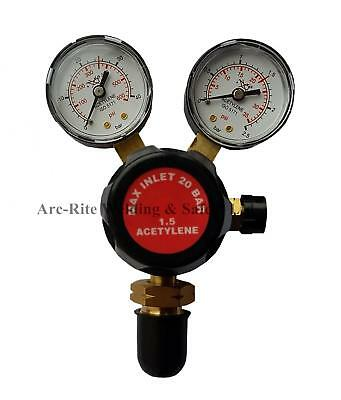 Acetylene Gas Burning Cutting Welding 2 Gauge Single Stage Bottle Regulator