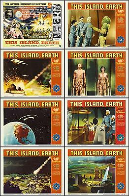 THIS ISLAND EARTH Complete Set Of 8 Individual 11x14 LC Prints 1955 SCI-FI