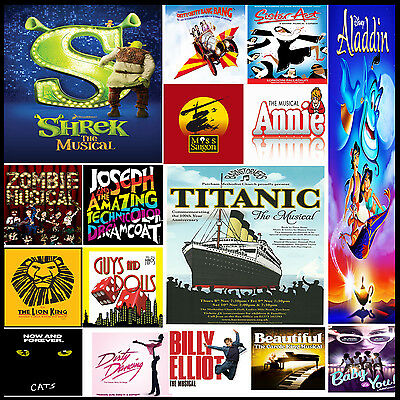 A3 Size - MUSICAL MUSIC THEATRE POSTERS -  Wall Art Prints Home Decor #20