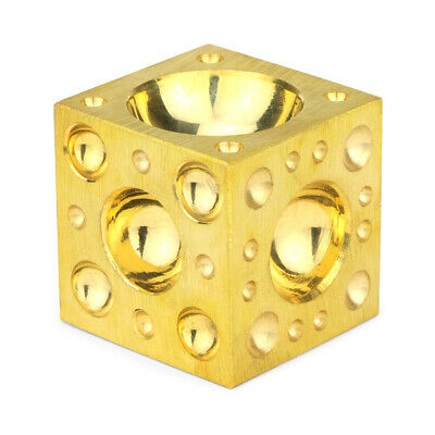 """Brass Dapping Block, 2"""" for Metal Stamping & Forming Jewelry Blanks & Discs"""