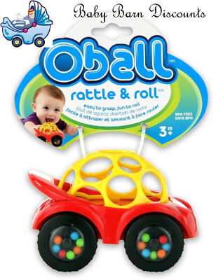 Oball Rattle & Roll Car - Red
