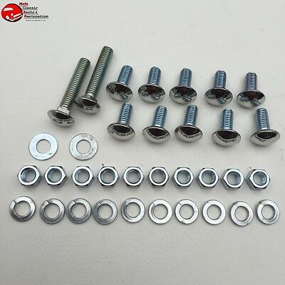 1968 1969 Chevy Camaro Rear Front Chrome Bumper Mounting Bolt  Kit Set New