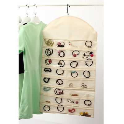Hanging Jewelry Necklace Earing Organiser Storage Bags for Closet Display Holder