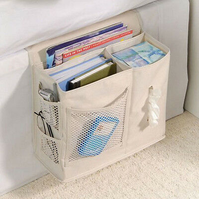Bedside Sofa Arm Rest Storage Organizer Hanging Bag for Phone Tissue Book Remote