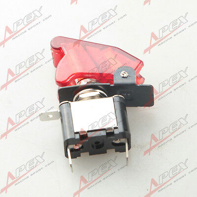 12V Car Racing On Off Aircraft Type Red LED Toggle Switch Control Flip Cover Red