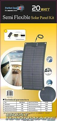 Waterproof Flexible Solar Panel Mat 20 Watt & 12V DC with 10amp Controller