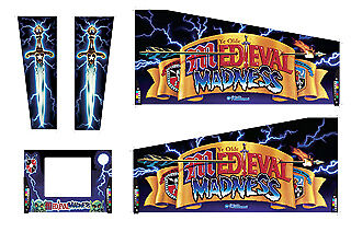 MEDIEVAL MADNESS PINBALL Cabinet Decal Set: Planetary Pin Distributor Mr  Pinball