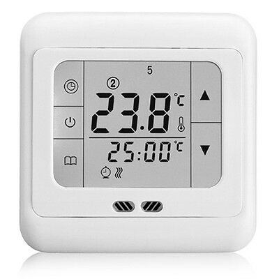 White Weekly Programmable Heating Thermost Touch Screen Thermostat BYC07.H3 UR
