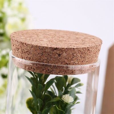 350ml Clear Glass Bottle with Sealed Cork Beans Tea Leaves Storage Container UR