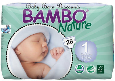 NEW Bambo Newborn 2-4kg Eco Disposable Nappies from Baby Barn Discounts