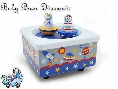 NEW Wooden Wind Up Music Box - Space Design from Baby Barn Discounts