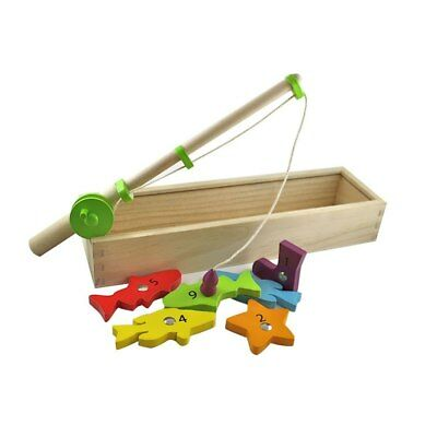 Discoveroo - Wooden Magnetic Fishing Game