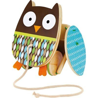 Skip Hop - Wooden Flapping Owl Pull Toy