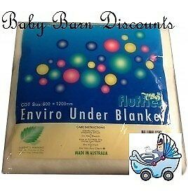 NEW Fluffies Enviro Cot  Under Blanket from Baby Barn Discounts