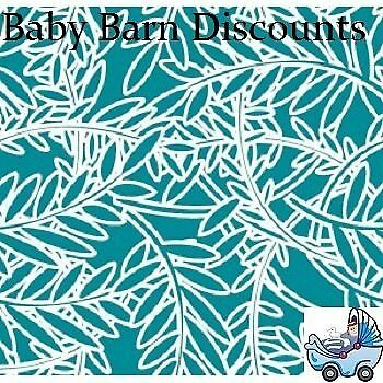 NEW Outlook - Cotton Sleep Eazy Cover - Teal Fern Leaf from Baby Barn Discounts
