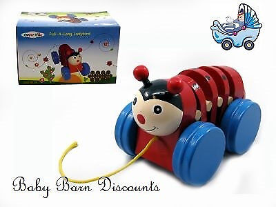 NEW Wooden - Pull a Long Ladybird from Baby Barn Discounts