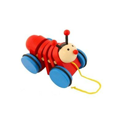 NEW Pull Along Beetle Wooden Toy from Baby Barn Discounts