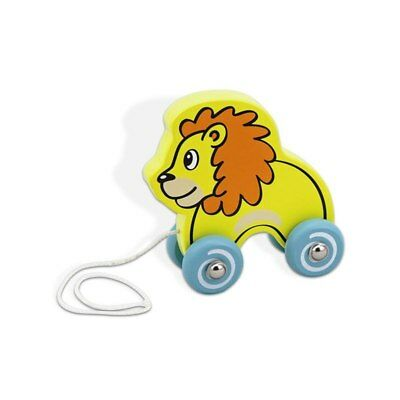 NEW Viga Pull Along Lion Wooden Toy from Baby Barn Discounts