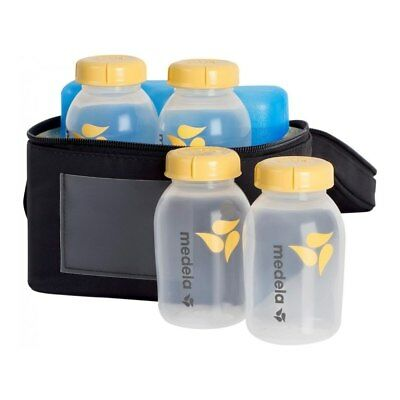 NEW Medela Cooler Bag with 4 Breastmilk Bottles from Baby Barn Discounts