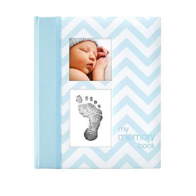 Pearhead - My First  Memory Baby Book -  Chevron Pink