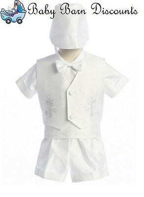 Satin Christening Outfit - 4pce - Size- 0