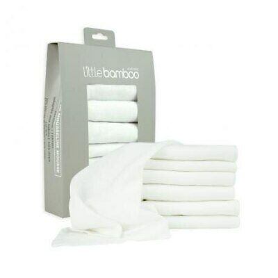 NEW Little Bamboo Muslin Face Washers 6 Pack from Baby Barn Discounts