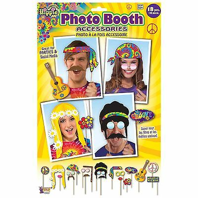 Hippie Hippy Photo Booth Prop Kit Professional Groovy Party Photos Fancy Dress