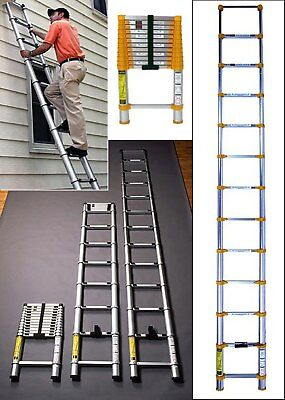 3.2M 3.8M Multi-Purpose Extension Telescopic Ladder Steps Stabilizer Bar Work