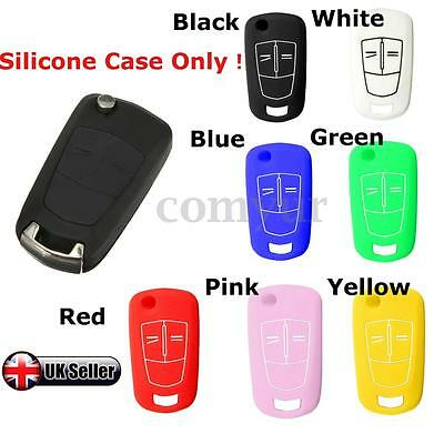 2/3B Silicone Key Fob Cover Case For Opel Vauxhall Corsa D Astra Vectra Zafira