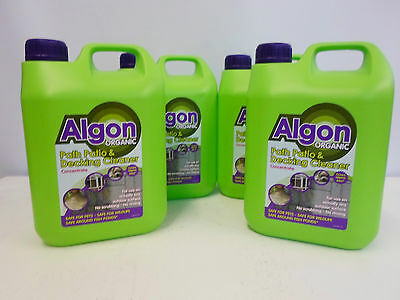 Algon Organic Path Patio & Decking Cleaner Concentrate - 10 L Makes 40 Litres