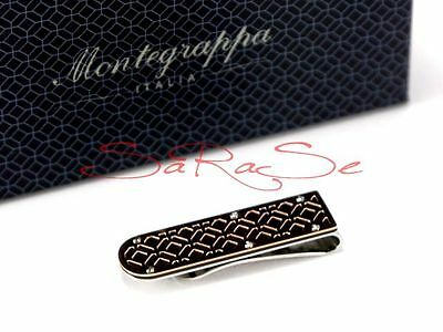 Montegrappa Filigree Clip Billetes Dinero Grapa Dollar-Clip Acero Inoxidable