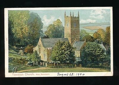 Devon TAWSTOCK Church Used 1904 PPC by Peacock #2066