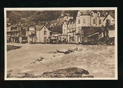 Devon LYNMOUTH The Main St in Flood 1952 disaster PPC by Frith