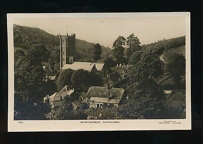 Devon ILFRACOMBE Berrynarbor Church c1900/10s? RP PPC by Twiss Bros #442