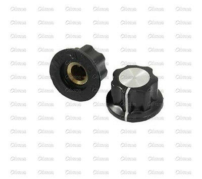10PCS 16mm Rotary Control Turning Knob for Hole 6mm Dia. Shaft Potentiometer New