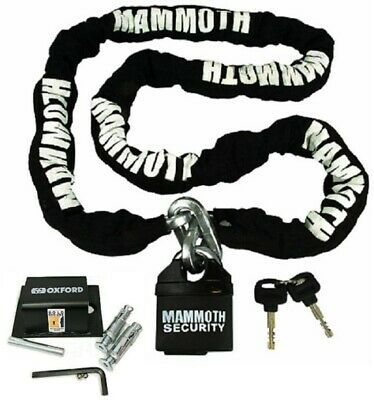 180Cm Motorcycle Mammoth Chain Lock & Strong Ground Anchor Bike Secure