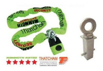 Motorcycle Mammoth Locm007 120Cm Chain Lock & Concrete In Ground Anchor Grd003