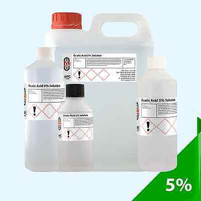 Oxalic Acid 5% Solution *Pack Sizes 50ml - 25L*