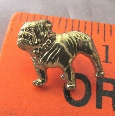 "Vintage Bull Dog Gold Tone  Lapel Pin  1/2"" X 1/2"""