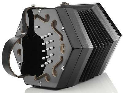 NEW Concertina Connection Rochelle Anglo Concertina Black C G M 30 Button Wakker