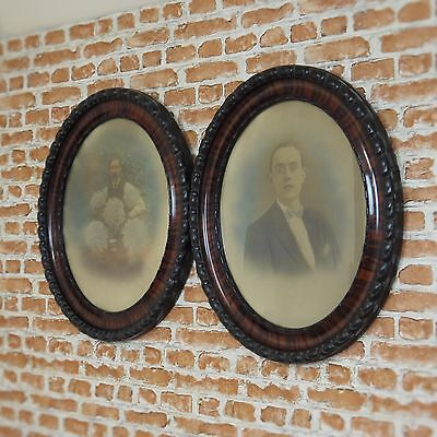 Antique Victorian Rosewood Old Framed Original Pictures Wall hanging William Mop
