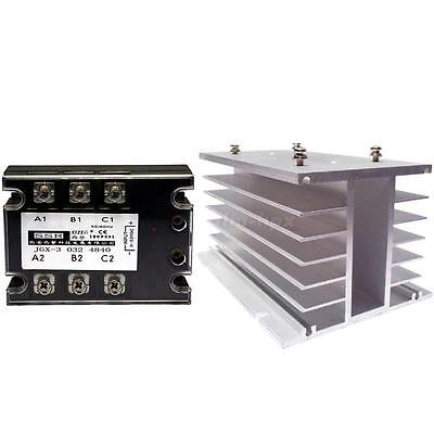 Electromatic Three Phase Solid State Relay 480V 40A GJX-3 And Radiator TMPG