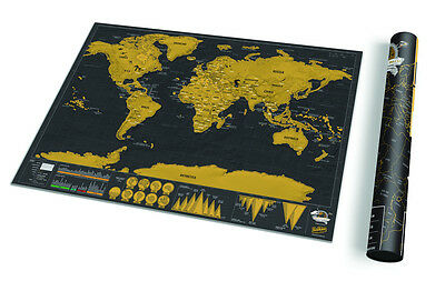Deluxe Travel Edition World Scratch Map