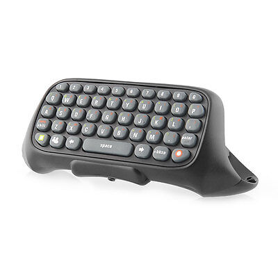 Black Wireless Game Messenger Keyboard Keypad Text Pad for Xbox360 Controller