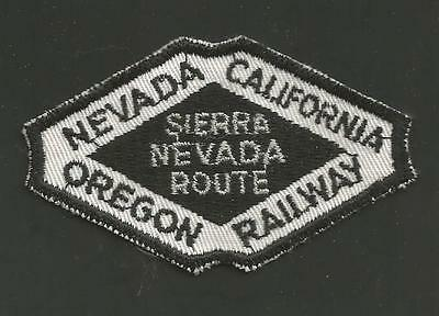 "Nevada California Oregon Railway Sierra Nevada Route   Railroad Patch 3 1/4 "" *"