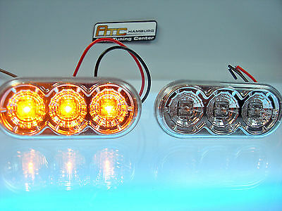 VW Golf 3 + Cabrio+ Variant LED Seitenblinker in Chrom Neu / Blinker. Oval SV04L