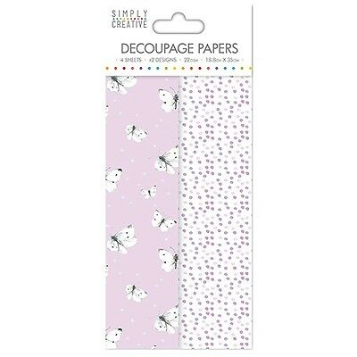 Simply Creative Lilac Butterflies Decoupage, Decopatch Papers SCDEC036