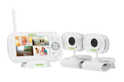 "Uniden 4.3"" Two Camera Digital Wireless Baby Video Monitor with Remote Viewing"