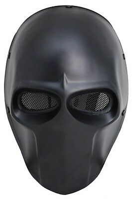 Black Full Face Wire Mesh Full Protection Paintball Airsoft Skull Mask Cosplay