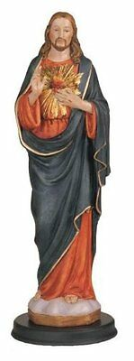 12 Inch Sacred Heart Of Jesus Holy Religious Figure Decoration Statue